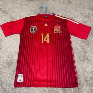 YOUTH Spain 2008 2009 Soccer jersey  #14 ALONSO